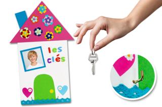 Range-clés mural pour la fête des parents - Fête des Mères - 10doigts.fr