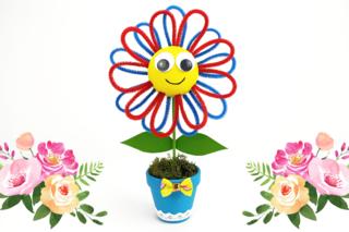 Petite fleur dans son pot - Activités enfantines - 10doigts.fr