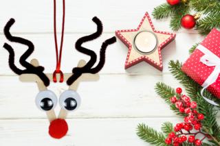 Rudolphe le renne du père Noël - Noël - 10doigts.fr