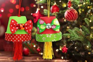 Suspension de Noël avec un pot en terre cuite - Noël - 10doigts.fr