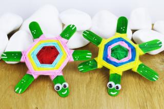 Tortues avec bâtonnets de glace - Activités enfantines - 10doigts.fr