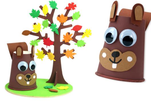 Écureuil et son arbre d'automne - Activités enfantines - 10doigts.fr