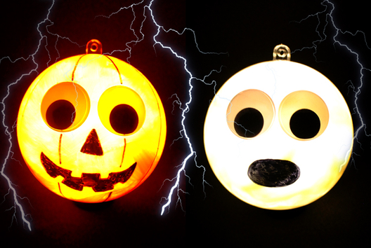 Boules lumineuses Halloween - Halloween - 10doigts.fr