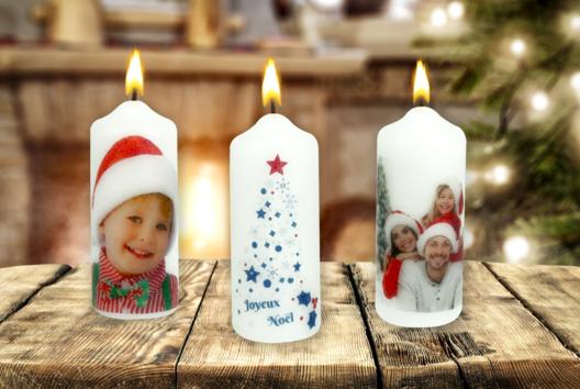 Transférer une photo sur une bougie - Noël - 10doigts.fr