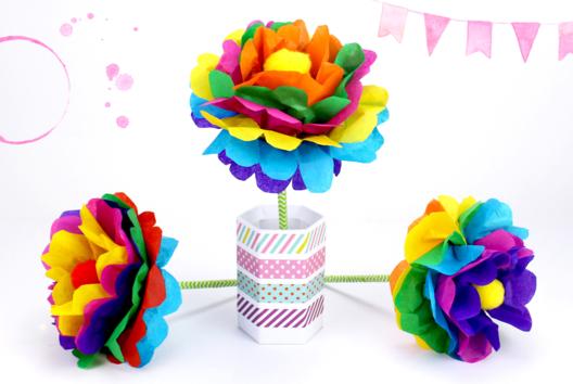 Faire une fleur en papier : méthode facile - Activités enfantines - 10doigts.fr