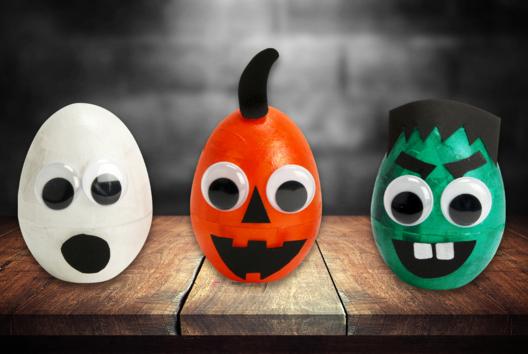 Petits monstres lumineux - Halloween - 10doigts.fr