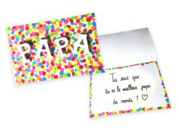 Carte confettis Papa