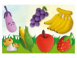 Fruits et légumes en pâte à modeler Soft Clay