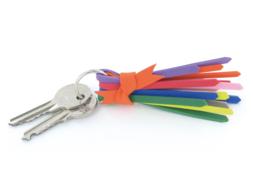 Porte-clef en caoutchouc souple