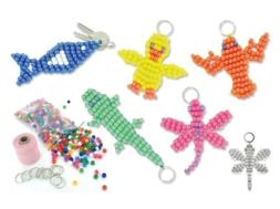 Porte-clés en perles plastique