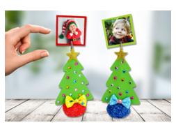 Porte-photo sapin de Noël