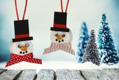 Bonhomme de neige lumineux - Noël - 10doigts.fr