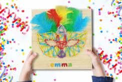 String Art : Masque de carnaval - Carnaval, fêtes, masques - 10doigts.fr