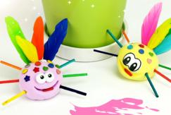Petite bébêtes rigolotes en pâte à modeler - Activités enfantines - 10doigts.fr
