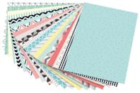Papier aux motifs géométriques et couleurs tendances - 20 feuilles - Papiers grammage épais - 10doigts.fr