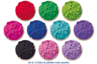 Sequins mates - 10 couleurs assorties - Sequins - 10doigts.fr