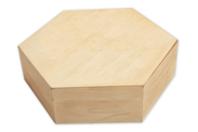 Boîte héxagonale en bois - Boîtes et coffrets - 10doigts.fr