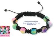 Shamballas... avec des perles en verre arc en ciel - Bijoux Shamballas - 10doigts.fr