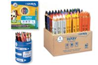 Maxi Crayons de couleur LYRA Ferby - Crayons de couleurs - 10doigts.fr