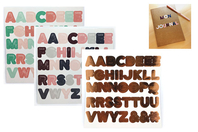 Stickers alphabets cuivre - 3 planches - Alphabets, Lettres, Chiffres - 10doigts.fr