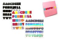 Stickers alphabets holographique - 3 planches - Alphabets, Lettres, Chiffres - 10doigts.fr