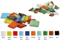 Mosaïques en pâte de verre, couleurs assorties ou à la couleur - Mosaïques pâte de verre - 10doigts.fr