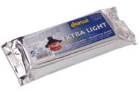 Pain de 160 gr de pâte à modeler blanche extra-légère DARWI - Papier mâché - 10doigts.fr