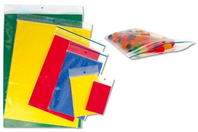 Pochettes en plastique transparent à fermeture zip - Papier divers - 10doigts.fr