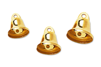 Clochettes métalliques dorées - 30 pièces - Grelots et clochettes - 10doigts.fr