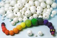 Boules en cellulose blanche - Boules cellulose - 10doigts.fr
