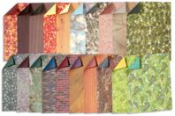Feuilles papier motif nature - set de 40 - Papier artisanal naturel - 10doigts.fr