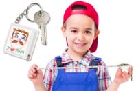 Porte-clef mètre à personnaliser - Porte-clefs, stylo-bille - 10doigts.fr