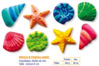 Moule 8 coquillages et étoiles de mer - Moules - 10doigts.fr