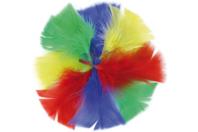 Plumes, couleurs vives assorties - 270 pièces - Plumes - 10doigts.fr
