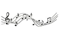 Pochoir Notes de Musique - Pochoir frise - 10doigts.fr