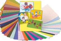 Cartes fortes fantaisie - set de 40 - Assortiment papiers divers - 10doigts.fr