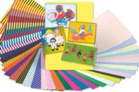 Papier épais 23 x 33 cm  - 40 feuilles assorties - Papiers motifs géométriques - 10doigts.fr