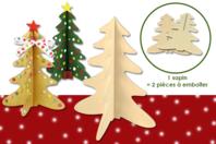 Sapins en bois naturel - 2 pcs - Noël - 10doigts.fr