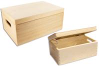 Boîte de rangement en bois - Boîtes et coffrets - 10doigts.fr