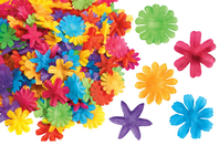 Fleurs en tissu - 300 pièces - Fleurs et feuilles - 10doigts.fr