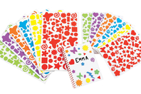 Stickers en caoutchouc souple - 1750 stickers - Stickers Fantaisies - 10doigts.fr