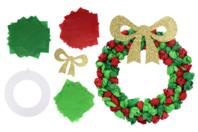Couronne de Noël en papier de soie - Lot de 6 - Décoration de Noël - 10doigts.fr
