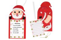 """""""Ma liste pour le Père Noël"""" - Lot de 6 - Décoration de Noël - 10doigts.fr"""