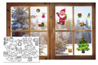 Stickers de Noël pour fenêtres à colorier - Set de 10 - Gommettes et stickers Noël - 10doigts.fr
