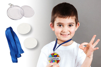 Médailles à personnaliser - 6 pcs - Transparent - 10doigts.fr