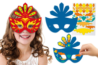 Masques Carnaval + gommettes + strass - Lot de 6 masques - Mardi gras, carnaval - 10doigts.fr