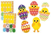 Gommettes pour créer des poussins de Pâques - Gommettes de fêtes - 10doigts.fr