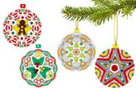 Boule de Noël Mandala à colorier - Mandalas - 10doigts.fr