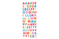 Stickers alphabet en epoxy - Stickers en plastique - 10doigts.fr