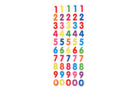 Stickers chiffres en epoxy - Stickers en plastique - 10doigts.fr